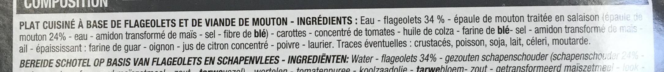 Mouton aux flageolets - Ingrédients