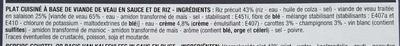 Blanquette de veau et son riz - Ingrediënten - fr