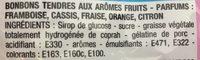 Tendres Goûts Fruits - Ingrédients - fr