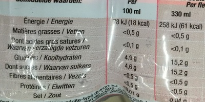 Goût Fraise - Nutrition facts - fr