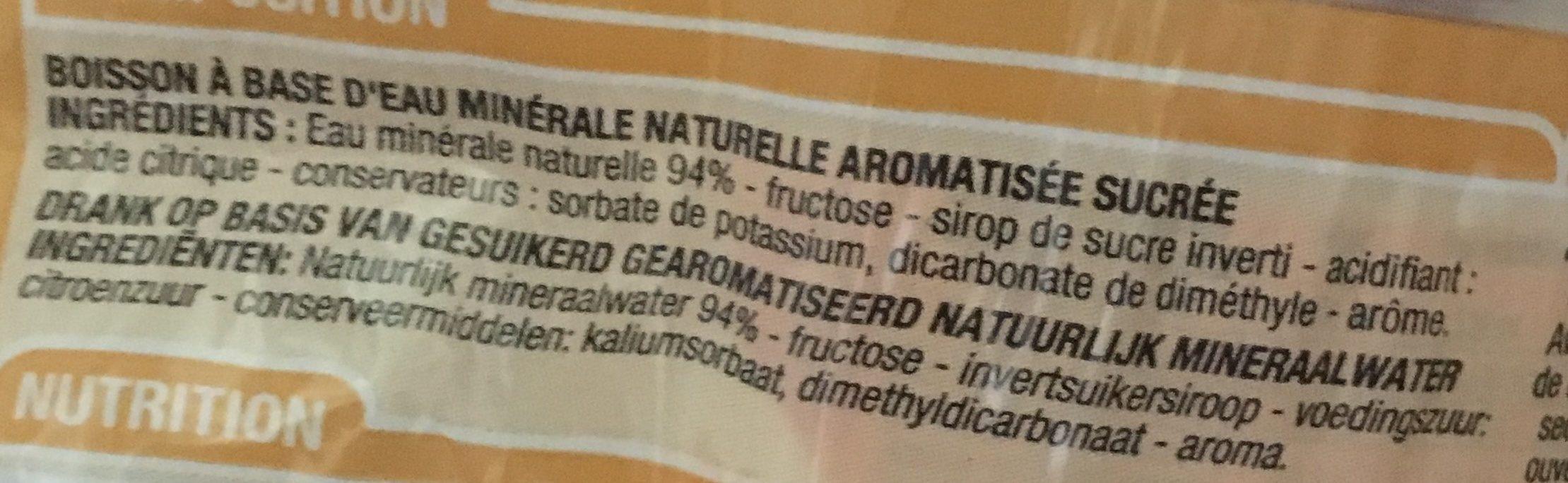 Eau Aromatisé Pèche 6 Fois 33 Centilitres - Ingrediënten - fr