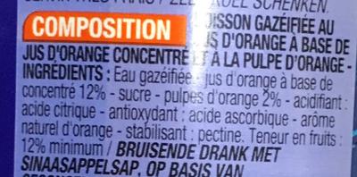 Pulpé - Ingrédients - fr
