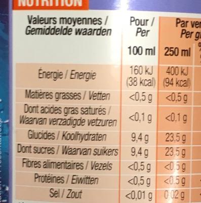 Pulpé - Informations nutritionnelles - fr