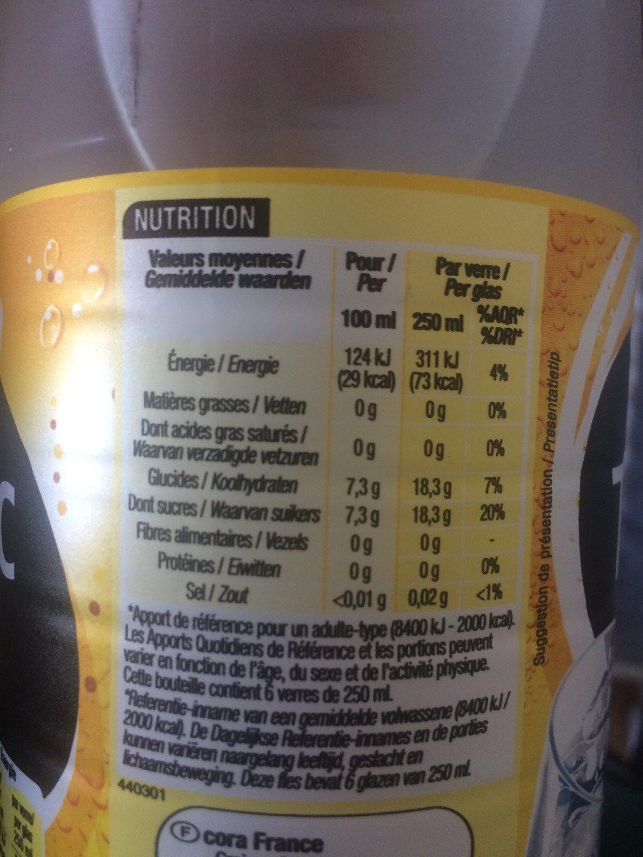Tonic 1 Litre Et Demi 1 Litre Et Demi - Informations nutritionnelles - fr