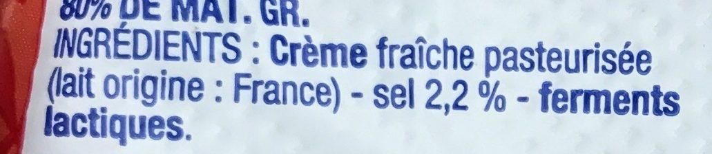 Beurre moulé de Bretagne demi-sel - Ingredients