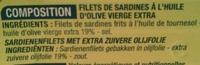 Filet de sardines - Ingrediënten