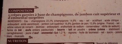 Ficelles Picardes - Ingredients