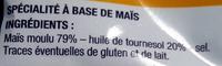 Tortillas nature - Ingrédients