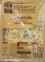Spaetzle aux œufs frais - Produit