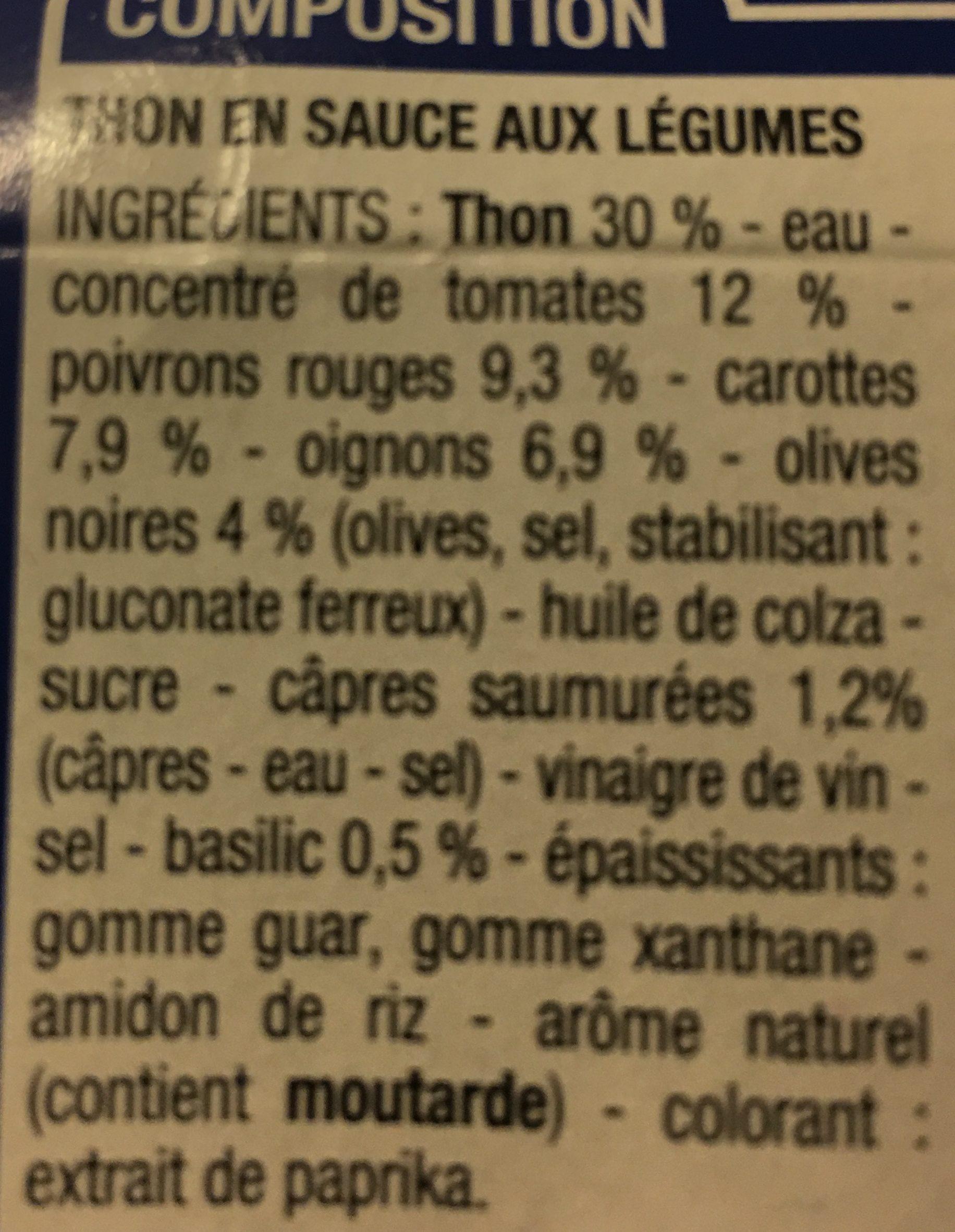 Thon a la provencale - Ingrédients - fr
