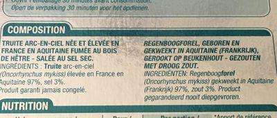 Truite fumée d'Aquitaine - Ingrediënten