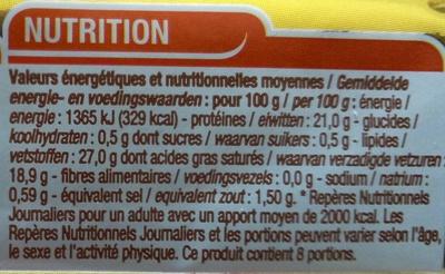 Carré de l'Est - Nutrition facts - fr