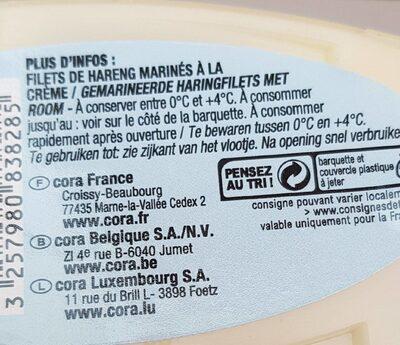 Filets de Harengs à la Crème - Informations nutritionnelles - fr