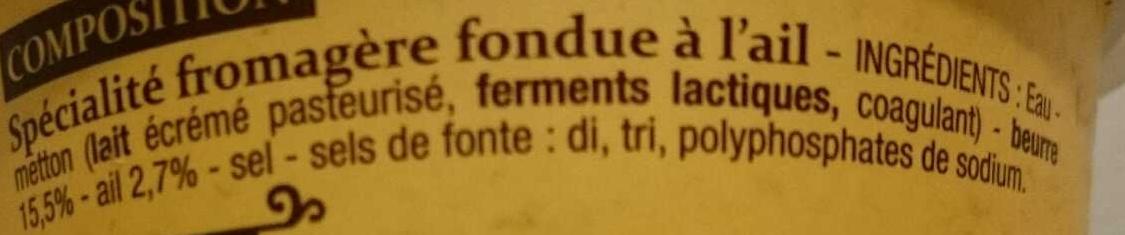 Cancoillotte à l'ail - Ingredients - fr
