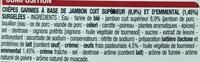 Crêpes Jambon Fromage - Ingredients - fr