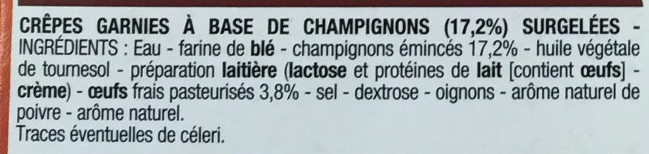 Crêpes Champignons - Ingrediënten