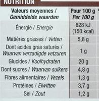 Crêpes Champignons - Voedingswaarden