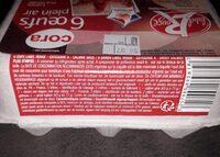 6 oeufs frais de poules élevées en plein air gros - Voedingswaarden - fr