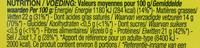 Camembert moulé à la louche - Nutrition facts