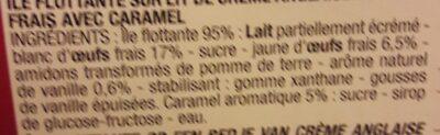 Ile Flotante - Ingrédients - fr