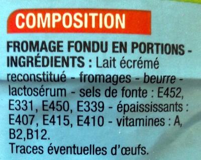 24 P'tits fondus - Ingrédients - fr