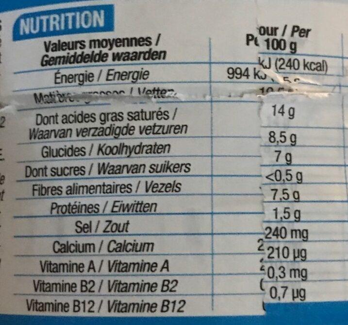 24 P'tits fondus - Informations nutritionnelles - fr