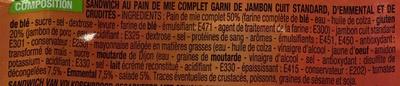 Jambon emmental crudités Maxi - Ingredients