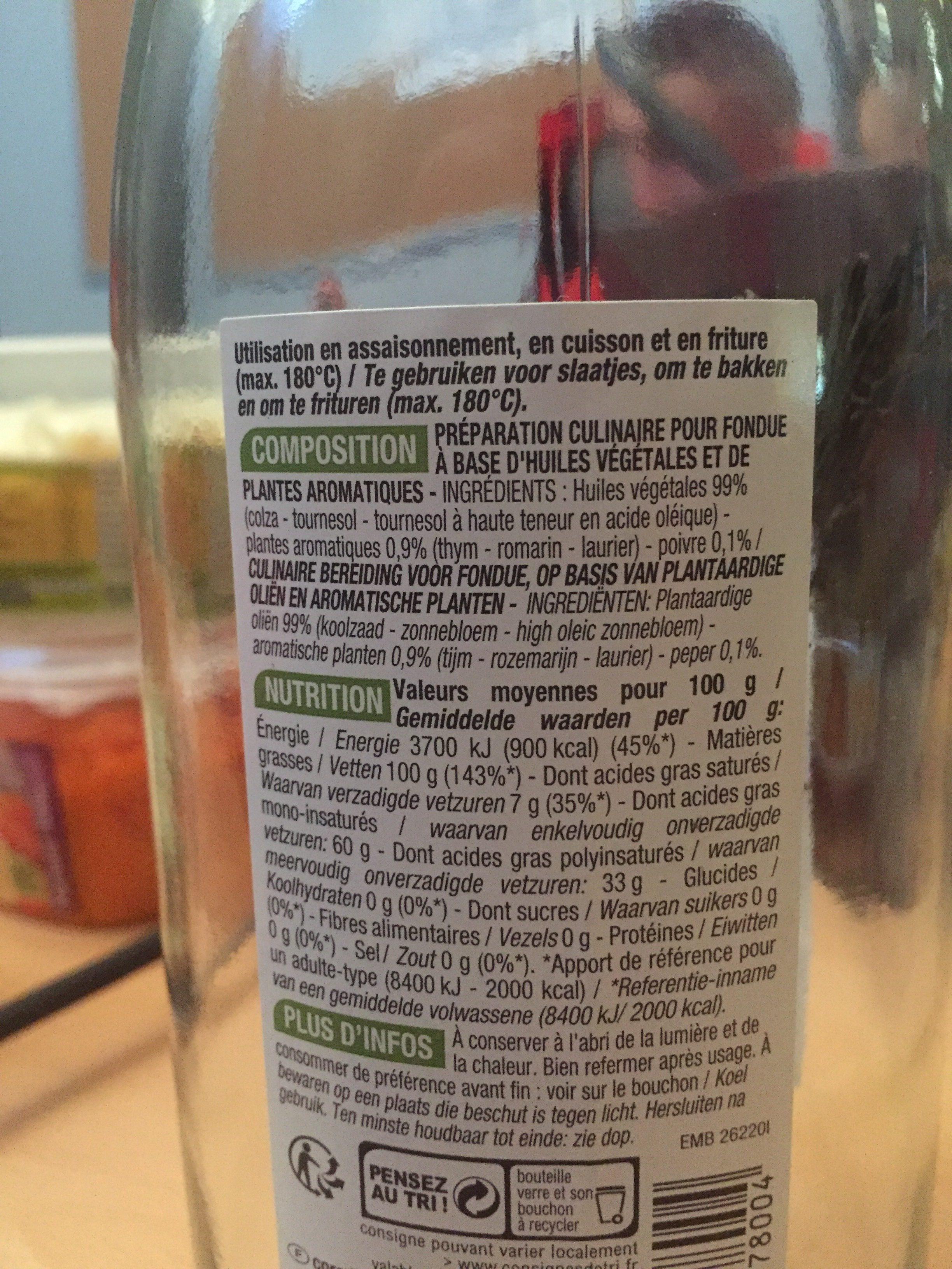 Huile speciale fondue - Ingredients - fr