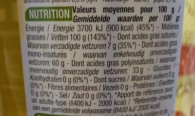 Huile speciale fondue - Nutrition facts - fr