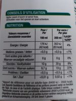 100% pur jus de pomme - Informazioni nutrizionali - fr