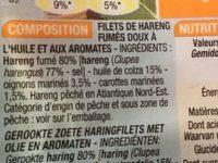 Filets de harengs - Ingrédients - fr
