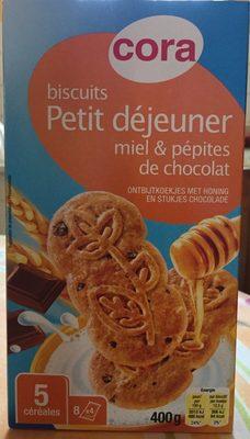 Biscuits pour le Petit déjeuner miel & chocolat - Produit - fr