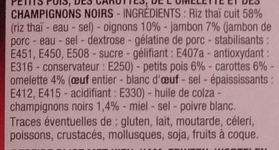 Riz Cantonais - Ingredients - fr