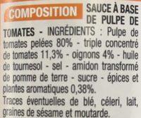 Préparation Pour Pizza - Ingrediënten