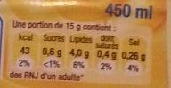 Mayonnaise allégée - Nutrition facts - fr