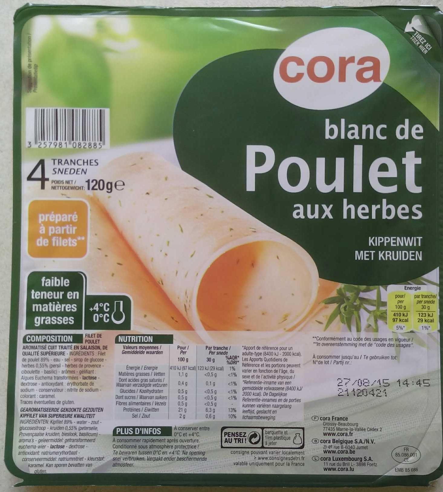 Blanc de poulet aux herbes - Product - fr