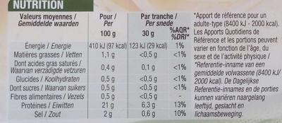 Blanc de poulet aux herbes - Voedingswaarden - fr