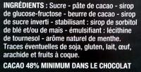 Chocolat noir menthe - Ingrediënten - fr