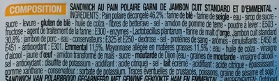 Jambon Emmental - Ingredients - fr