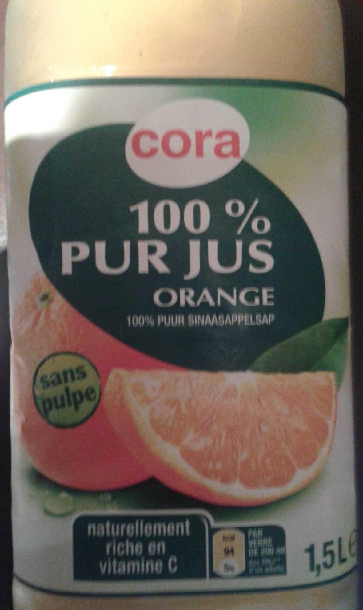 100% pur jus d'Orange sans pulpe - Produit - fr