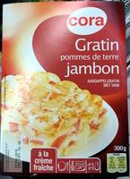 Gratin pommes de terre jambon à la crème fraîche - Produit