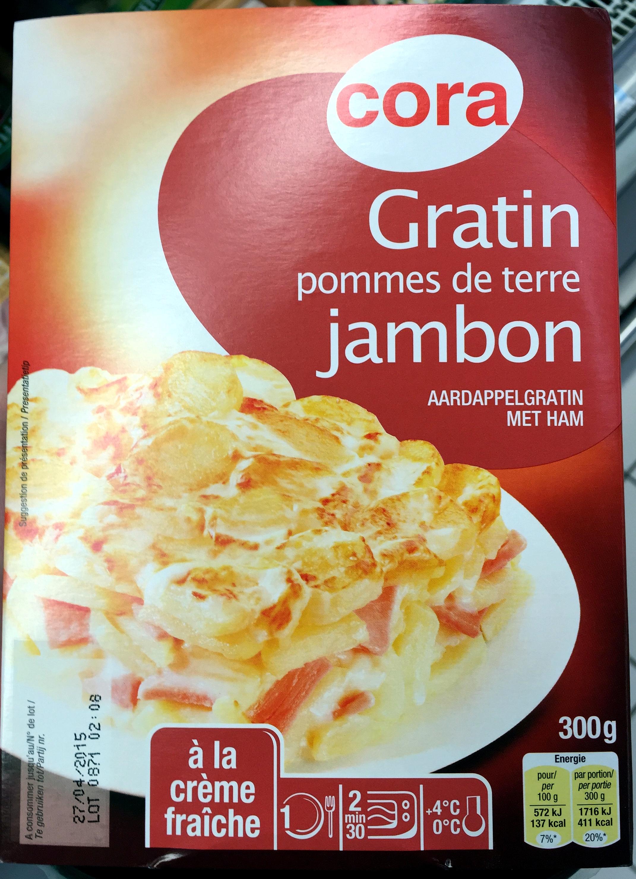 Gratin pommes de terre jambon la cr me fra che cora - Gratin de pomme de terre jambon ...