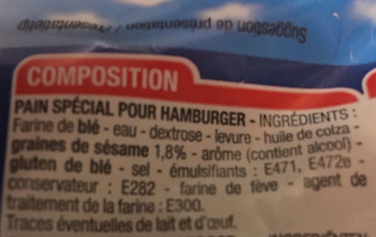 Pains pour Hamburger - Ingrediënten - fr