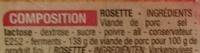 Rosette (10 tranches) - Ingrédients - fr