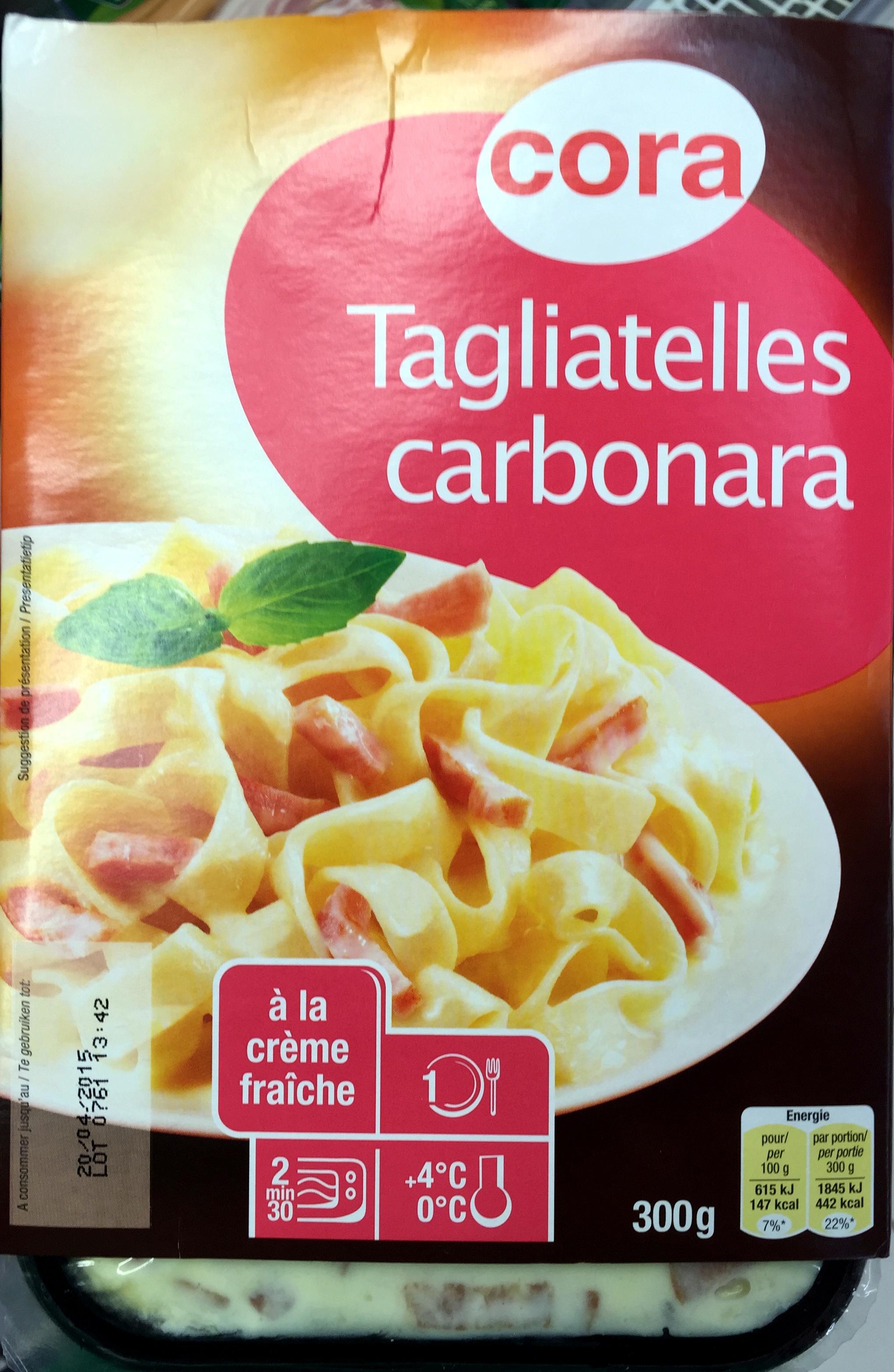 Tagliatelles carbonara à la crème fraîche - Produit