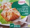 Panniers Feuilletés Au Chèvre, 4 Fois 100 Grammes, Marque Cora - Product
