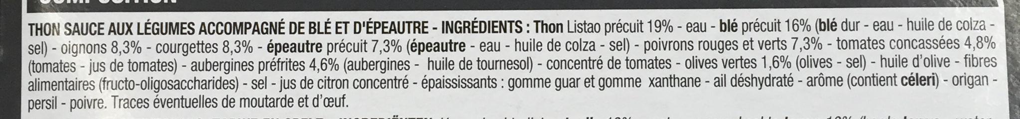 Thon à la provençale et son blé - Ingrédients - fr