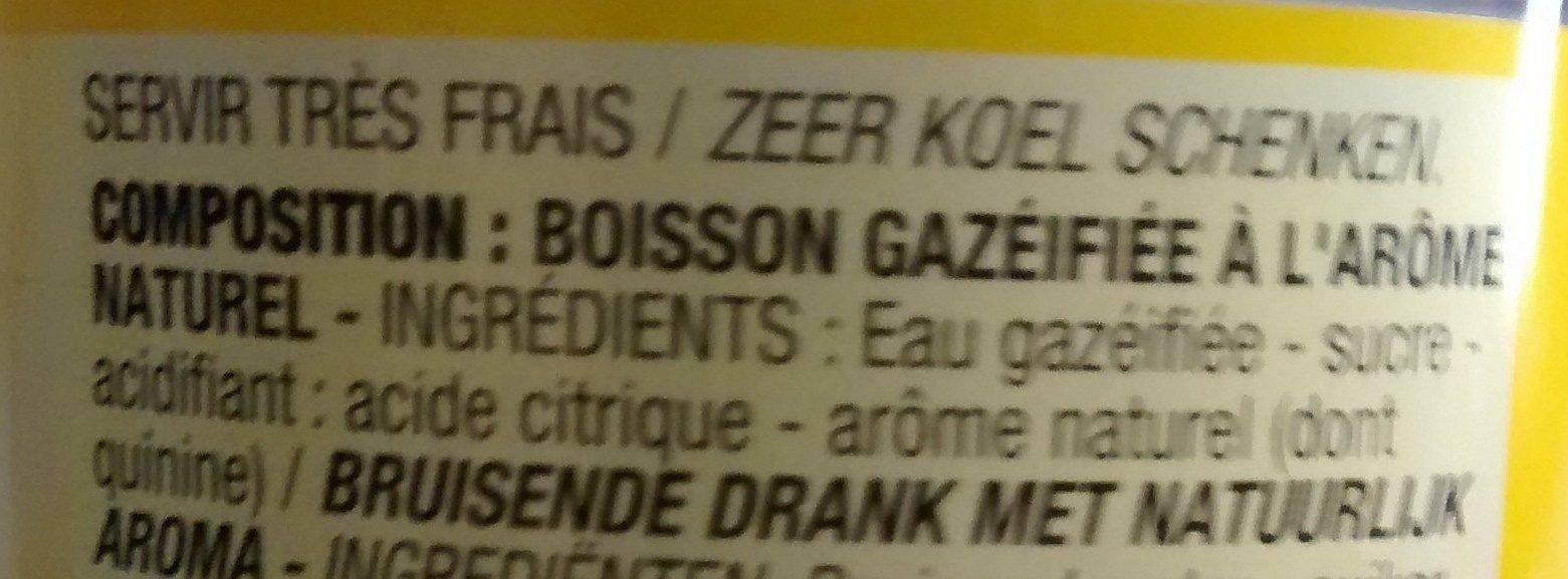 Tonic - Ingrédients - fr