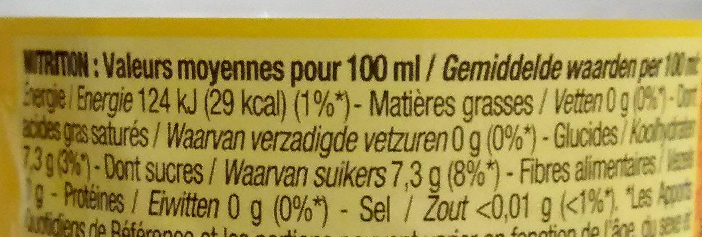 Tonic - Informations nutritionnelles - fr