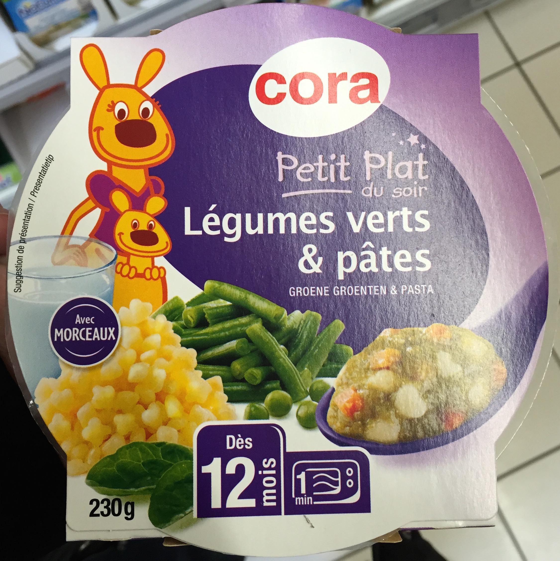 Petit plat du soir, Légumes verts & pâtes - Produit